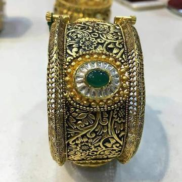 916 Gold Antique Jadtar Kada Bangle
