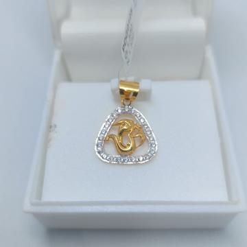 22ct Cz OM GANESH Pendants by Parshwa Jewellers