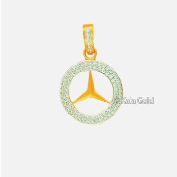 22 KT Gold Designer CZ Diamond Pendant