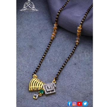 22 carat gold antique mangalsutra RH-MN584