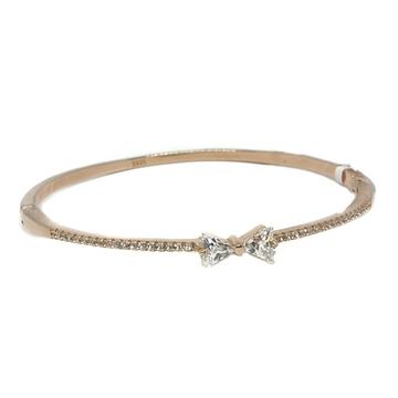 925 Sterling Silver CZ Diamond Rose Plating Bracelet MGA - KRS0014