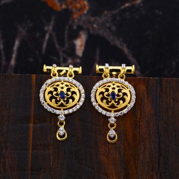 Ladies 916 Gold Cz Earrings-LFE104
