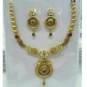 22K / 916 Gold Antique Jadtar Necklace Set