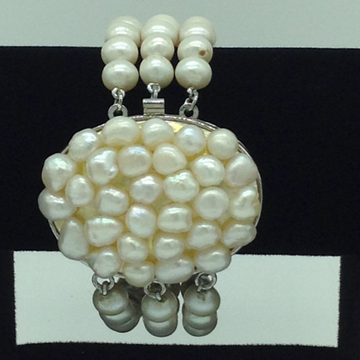 White round pearls with baroque pearls clasp 3 layers bracelet jbg0197