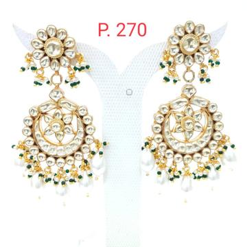 Traditional Kundan work earrings for women flower style earrings 1553