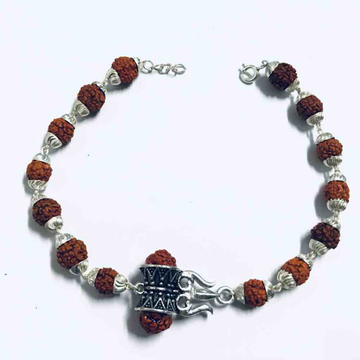925 sterling silver Rudrax bracelet with pendant by Veer Jewels
