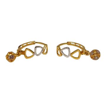18K Plain Gold Fancy Earrings MGA - BLG0611