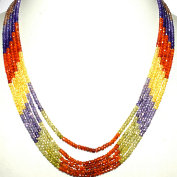 CZ Necklace 5 Layers JSS0304