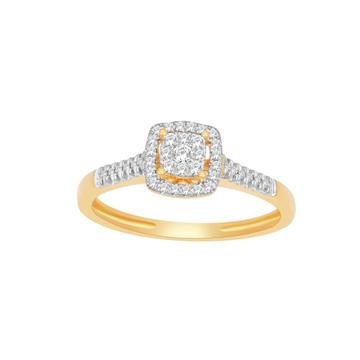Designing fancy real diamond ring by