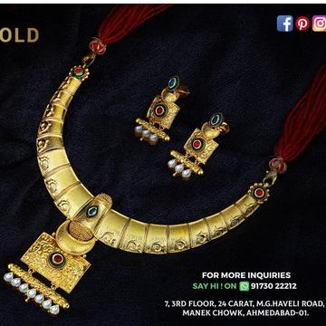 916 gold antiqe set sgs-0002