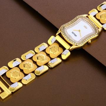 22 carat gold stylish hallmark mens watch rh-ga483