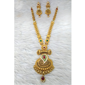 22K Gold Antique Jadtar Necklace Set