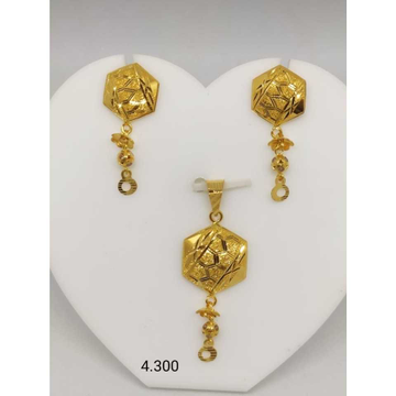 18 K Gold Handmade Pendant Set. nj-p01177