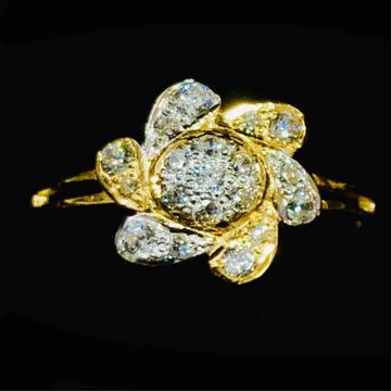 916 Gold Fancy Flower Designer Ladies Ring by Prakash Jewellers