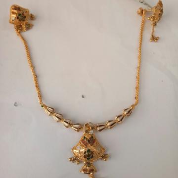 916 Gold hallmark Necklace set TJ4356