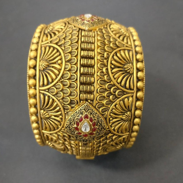 916 Gold Antique Traditional Kada For Bridal BJ-B0... by