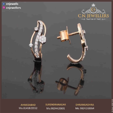 EARRING ROSEGOLD CZ 18CT by