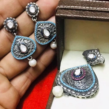 925 Starling Silver Oxodise Chain Pendal Set RH-925CP007