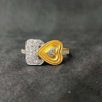 916 Ladies Heart Shape Gold Ring-17022