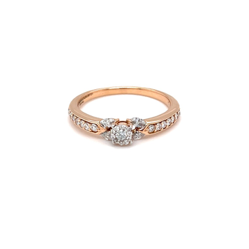 Delicate diamond engagement ring with pressure set...