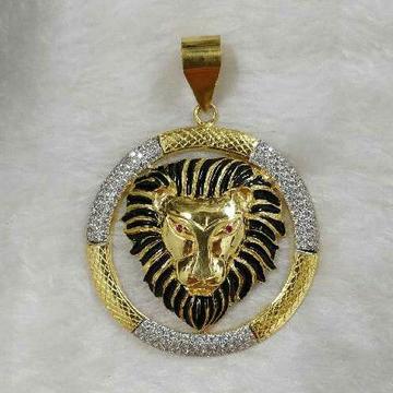 916 Gold Hallmarked Lions Pendant