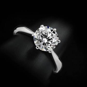 DIAMOND RING 18K WHITE GOLD  by Shri Datta Jewel