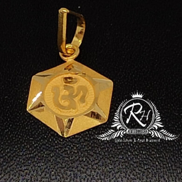 22 carat gold antique om pendal RH-PL689