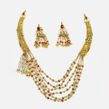 916 Gold Antique Bridal Jewellery Set RHJ-4797