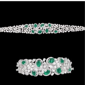Diamonds and EmeraldsBraceletJSJ0157