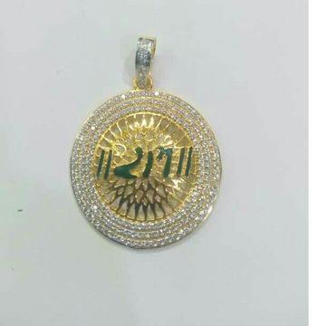 916 Gold Round Pendant