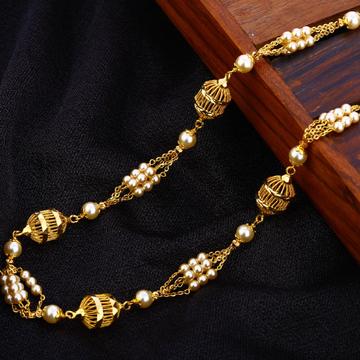 916 Gold Hallmark Exclusive Antique Chain Mala AC1...