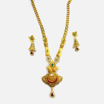 916 Gold Antique Long Necklace Set RHJ-4782
