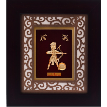 916 Gold Plated Ghanta Karan Mahavir Photo Frame AJ-07