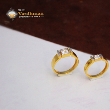 22ct(916) c.z couple rings