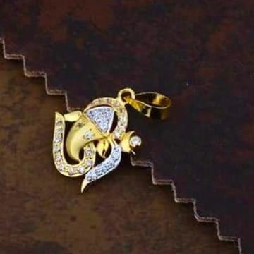 916 gold ganpati pendants RH_pendants62