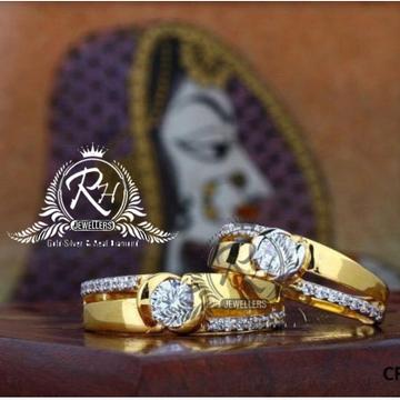 22 carat gold love forever couple rings RH-CR818