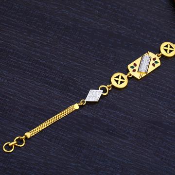 Ladies 22K Casting Gold Bracelet-LB166