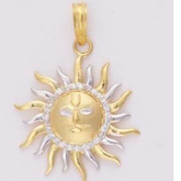 22KT Gold Fancy Handmade Sun Shaped Pendant