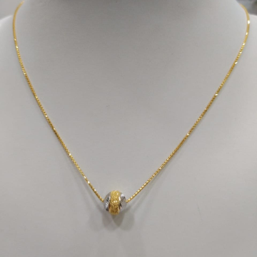 22KT Gold Chain With Rhodium Pendent (Bahubali)