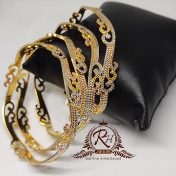 18 carat gold 4 pic ladies bangels kada Rh-Lr905