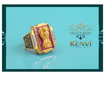 916 gold cz design ring gr-7771