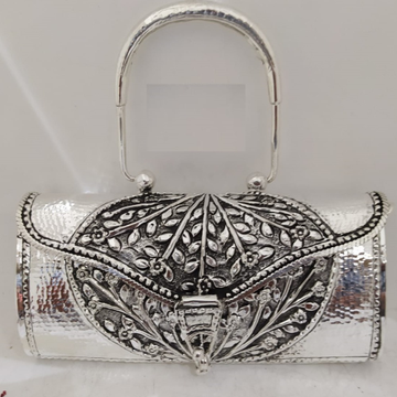 hallmarked silver handbag in snake skin texture.