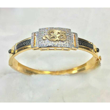 916 gents fancy gold kada g-3707