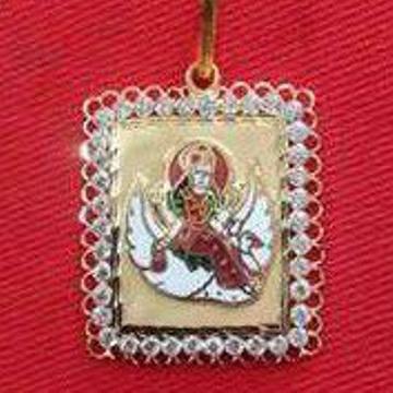 22KT Gold Religious Brahmani Maa Meenakari Pendant