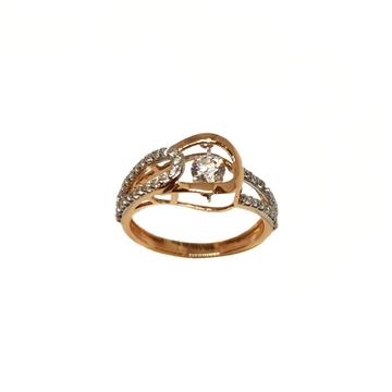 18K Rose Gold Modern Ladies Ring MGA - LRG1214