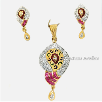 916 Gold Attractive Pendant Set