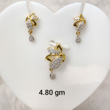 Light weight daily wear Cz pendant set for women by