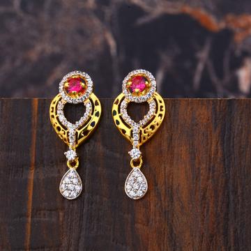 Ladies 916 Gold Designer Diamond Earring -LFE269
