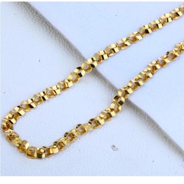 22 carat gold designer choco gents chain RH-GC568