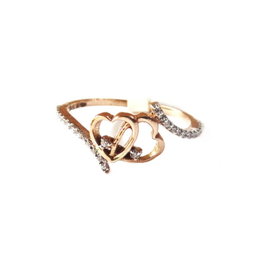 18K Rose Gold Heart Shape Ring MGA - RGR0019